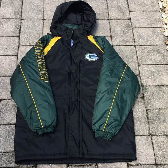 fcb8bd22 Green Bay Packers Jacket Heavy WINTER COAT hoodie